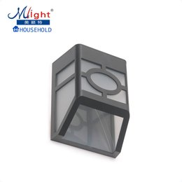 Wholesale Chinese Garden Lamps - Wholesale- Outdoor LED Wall Lamp Fence Lamp Solar Powered Rechargeable Battery Garden Traditional Chinese Style Outdoor Solar Light