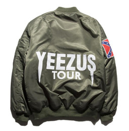 Wholesale Badge Army - Embroidered Badge Mens MA1 hip hop Jacket Retro Ma1 Bomber yeezus Jacket For Men And Women Full Zipper Mens Jacket Coat Free shipping