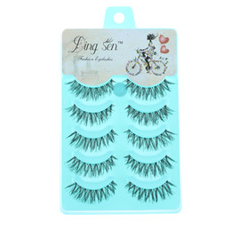Wholesale Lady Lash - 5 Pairs New Women Lady Natural Soft Black Fake Eye Lashes Handmade Thick Fake False Eyelashes Makeup Tools