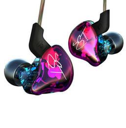 Wholesale Earphones Colour - KZ ZST Colour Balanced Armature+Dynamic Hybrid Dual Driver Earphones HIFI Earbuds Bass Headset In-ear Earphones With Microphone