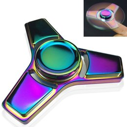 Wholesale Perfect Vehicle - Fidget Spinner, Greatever Rainbow Colorful EDC Tri Fidget Hand Spinning Toy Time Killer Stress Reducer High Speed Focus Toy Gifts Perfect