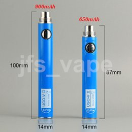 Wholesale Open Usb Cable - Original UGO V II 650 900mah EVOD eGo 510 Battery with USB Cable vaporizers Ecigs Open Vape batteries vape