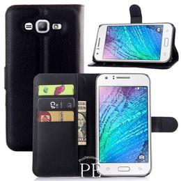 Wholesale Case Wallet Galaxy Ace - Litchi Wallet Flip PU Leather Case Cover Bag With Money Pocket Card Slots Stand For Samsung Galaxy J1 J100 ACE J110 J2 J200 J3 J5 J7
