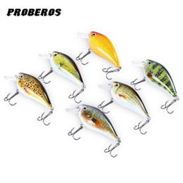 """Wholesale Crankbait Wholesale - 6pcs Proberos Brand Fishing lure 3""""-7.6cm Fishing Bait 12.75g Crankbait 6 Color Fishing Tackle 6# Hook Fish Lures 3D Eyes Lures +B"""