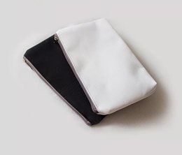 Wholesale Diy Clutch - Available blank cosmetic bag for DIY design  canvas makeup bag plain canvas cosmetic bag clutch bag