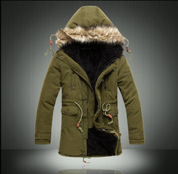 Wholesale Wool Coat Men Green - Man long coat very popular in the 2016 solid causal warm coat hooded winter wear a thick coat of male fashion