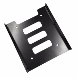 Wholesale Mounting Ssd - Wholesale- 2.5 Inch To 3.5 Inch SSD HDD Metal Adapter Rack Hard Drive SSD Mounting Bracket Holder For PC