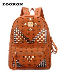 Wholesale Designer Bags Studs - Wholesale- Leather Bags Women PU Backpack with Studs Backpack Women Designer Backpacks High Quality