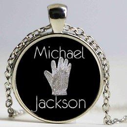 Wholesale Michael Glasses - Michael Jackson Pendant Necklace B&M 2016 New Punk Glass Necklace Michael Jackson Long Necklaces For Women Prime