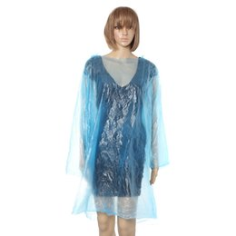 Wholesale Disposable Rain Coat Emergency - Wholesale-1pcs Disposable Raincoat Adult Emergency Waterproof Hood Poncho Travel Camping Must Rain Coat Unisex travel kits