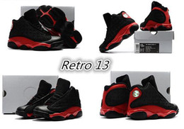 Wholesale Baby Shoes Online - air retro 13 XIII Baby, Kids Basketball Shoes red Bred He Got Game Black Sneaker Sport Shoes Online Sale size:28-35