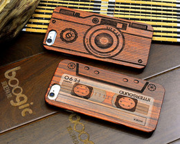 Wholesale Iphone 5s Covers Wood - Thin Luxury Natural Wood Phone Case For Iphone 5 5S 6 6S 6Plus 6S Plus 7 7Plus Cover Wooden High Quality Shockproof case 1pcs drop shipping