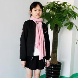 Wholesale Black Velvet Long Coat - Girls Kids Clothing Wool Coat Spring And Winter Wool Jacket Plus Velvet Thickening In The Long Section Korean Version