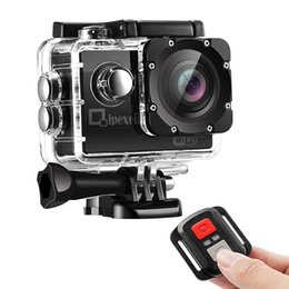 Wholesale 12mp Hd Remote Camera - WIFI Sports Action Camera, Qipexeii 1080P Waterproof 12MP FHD 2 inch Screen With 2.4G Remote Control,2 Pcs 1050mAh Rechargeable Batteries