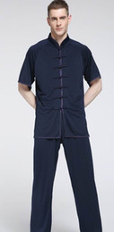 Leite Unisex seda tai chi kung fu trajes de artes marciais tai chi trajes comprimento manga curta de Fornecedores de traje tai chi