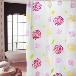 Wholesale peva curtain - Waterproof Antifogging Shower Curtains 180*200cm Thicken PEVA Shower Room Decor with Plastic Hooks High Quality Mildewproof Shower Curtains