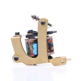 Wholesale Dual Casting - NEW Copper Handmade Tattoo Machine Shader Dual 10 Wrap Coils for Tattoo Gun Supplies Free Shipping TM428