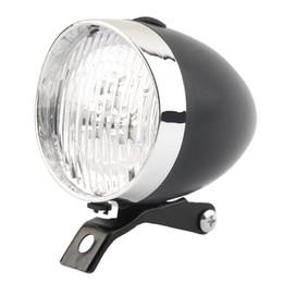Wholesale Retro Bike Light Led - Retro Bicycle Bike 3 LED Front Light Headlight Vintage Flashlight Lamp New free shipping