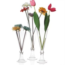 Wholesale Beautiful Flower Vases - unique beautiful glass vases wedding centerpiece,party events charming decor for flowers,tall glass vases for fresh flowers