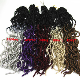 "Wholesale Red Black Hair Extensions - 20"" Omber Curly Weave Hairstyle Faux Locs Synthetic Crochet Braiding Hair for Women Long Curly Jumbo Braids Crochet Hair Extension 20s set"