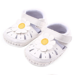 Wholesale Shoes For Girls Years - 2017 Sandals Hollowed-out sunflower baby shoes for 0-2 years