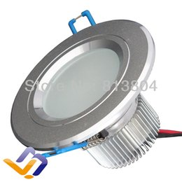 Wholesale Flood Homes - Wholesale- 3W High Power LED Flood Spot recessed Light Downlight Down Lamp 100-240V 110V 220V cool and warm white color ceiling for home