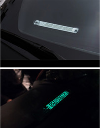 Wholesale Number Plate Stickers - Car Temporary Telephone Number Parking Card 15*2cm Silver Gold Notification Night Luminous Sucker Plate Phone Number Card