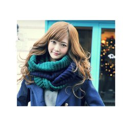 Wholesale Shawl Collar For Woman - Winter scarf large warm style for women wholesale women big thick Scarf knited Wool exaggerated shawl Lovers Collar around Neck
