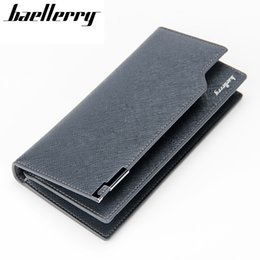 Wholesale Leather Money Bags For Men - Wholesale- Baellerry 2016 New Men wallets Casual wallet purse Clutch bag money wallet handbag long design men bag gift for men HQB1816