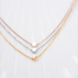 Wholesale Rose Gold Round Beads - Pendant Necklaces Rose Gold 18K Titanium Steel Round Bead Chain Zhao Liying Small Gold Beans Fashion Jewelry Women Silver Gold