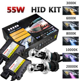 Wholesale Hi Lo Beam Hid Kit - 9003 HB2 H4 Xenon HID Ballast Conversion Kit Auto Headlight Bulb Lights Lamp Hi Lo Beam 55W 3000k 4300k 5000k 6000K 8000k 12000k