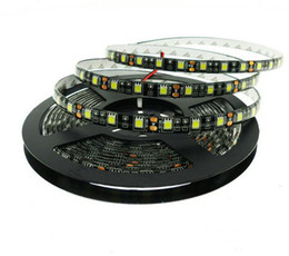 Wholesale Led Smd Ip65 - New arrive Black PCB LED Strip 5050 IP20 non-waterproof IP65 Waterproof DC12V 60LED m 5m roll Flexible LED Strip Light