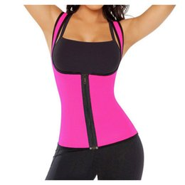 Wholesale Underwear Fat - Hot Shapers Sculpting Clothes Body Slimming Waist Cinchers Belt Burn Fat Corselet and Bustiers Buckle Design Neoprene Underwear