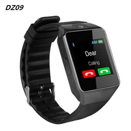 Wholesale Pet Camera Iphone - Smart Watch Mens Watches DZ09 Bluetooth Android Phone Call Relogio 2G GSM SIM TF Card Camera for iPhone Samsung HUAWEI PK GT08