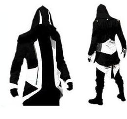 Wholesale Pink Coat Flared - Hot Sale Custom handmade Fashion Assassins Creed 3 III Connor Kenway Hoodies Costumes Jackets Coat 10 colors choose direct from factory
