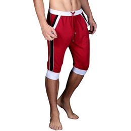 Wholesale Plus Size Active Wear - Wholesale- 2017 Hot Sale Summer Leisure Active Shorts Men Trousers Elastic Brand Men Shorts Mens Quick Dry Outer Wear Trousers at Home