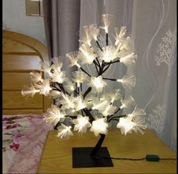 Wholesale Flash Layouts - Led fiber lights flashing string bedside layout bedroom holiday lights girls heart room decorative branches lights AC110V-220V