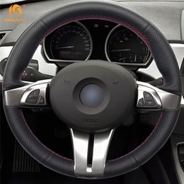 Wholesale Wheels For Bmw - Mewant Black Artificial Leather Car Steering Wheel Cover for BMW Z4 2003 2004 2005