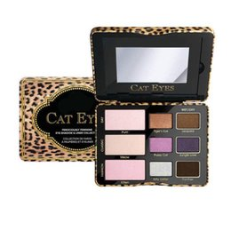 Wholesale Leopard Eyeshadow - New High Quality Cat Eye Leopard Eye shadow Palette Brand Make up 9 Color Eyeshadow Palette Fashion Beauty Cosmetics Wholesale Sales Makeup