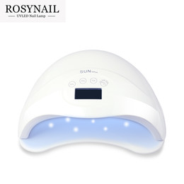 Wholesale Gel Manicure Cure Machine - 10pcs Wholesale 48W UV LED Lamp Nail Dryer SUN5 Nail Lamp With LCD Display Auto Sensor Manicure Machine for Curing UV Gel Polish