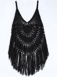 Wholesale Knit Halter - Sexy Women Hollow Out Knit Halter Crochet Swimwear Swimsuit One-piece Bikini Cover Up Bathing Suit
