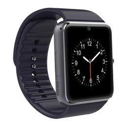 Wholesale Hot Watch Mp3 Camera - 2017 Hot Torntisc GT08 Smart Watch phone support TF SIM card MP3 0.3MP camera Bluetooth Sync Notifier Clock for apple android OS