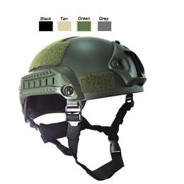 casco del ejército de airsoft Rebajas Equipo CS al aire libre Airsoft Paintabll Casco de tiro Equipo de protección para la cabeza Casco rápido táctico Mich 2001