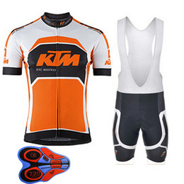 Wholesale Ktm Short - KTM 2017 Men cycling Jersey sets Cycling clothing short ropa ciclismo hombre summer mtb bike maillot ciclismo bicicleta sport wear E1501