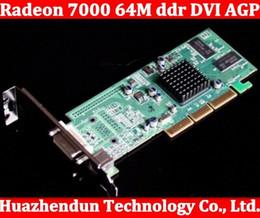 Wholesale Radeon Graphics Card - Wholesale- 2pcs lot Brand New ATI Radeon 7000 64M ddr DVI AGP Graphic Card Video Card free shipping high quality