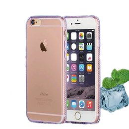 Wholesale Crystal Retail Iphone - Crystal Soft TPU Melted Ice Diamond Cases Colorful Back Cover Case For iPhone Samsung A710 NOTE 5 OPPO HUAWEI VIVO With Retail Package