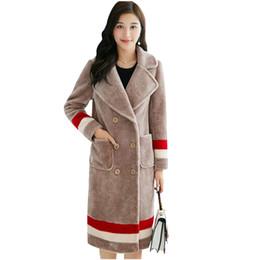 Wholesale Haining Fur - Autumn winter 2017 New Fashion New Haining Imitation Sheared Sheep Imitation Fur Coat Big Yards Cultivate One's Morality Coat
