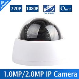 Wholesale 12mm Dome Cctv Camera - Security Dome CCTV IP Camera 720P 1080P HD 1MP 2MP Network Camera 30Pcs IR Night Vision 2.8-12mm 4X Manual Zoom ONVIF P2P Cloud