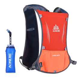 Wholesale Nylon Running Vest - Wholesale- AONIJIE Women Men Running Backpack Outdoor Sports Trail Racing Marathon Hiking Fitness Bag Hydration Vest Pack 600ml Kettle
