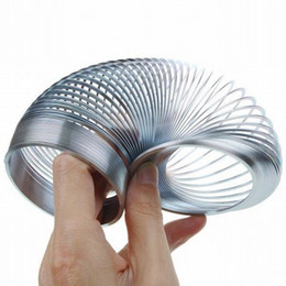 Wholesale Power Toys For Kids - Original Slinky Metal Power Spring Rainbow Circle Classic Novelty Toys New In Box Gift for Children Kids Xmas
